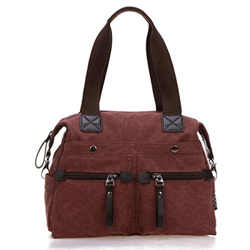 Auspicious beginning Borsa multifunzionale delle ragazze della tela/sacchetto di spalla/sacchetto di scuola con le tracolle vino rosso