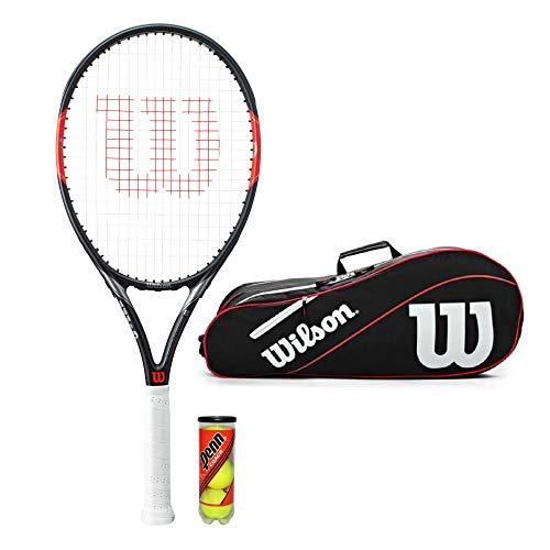 WILSON Federer Pro BLX Tennisschläger Tasche + 3 Bälle (Für Tasche Tennisschläger)