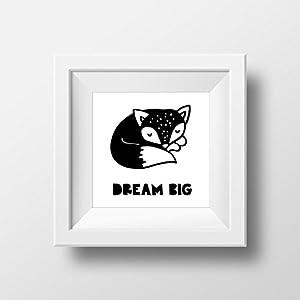 dream big Fuchs Poster von Mr&Mrs Druck