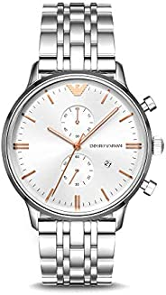 Emporio Armani Mens Quartz Watch, Chronograph Display and Stainless Steel Strap AR1933