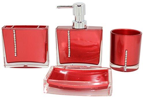 eumat Serie Moderne Badezimmer Bad-Accessoires-Set von Stil prägnant Zubehör Set rot