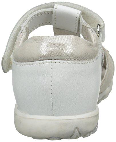 Start Rite Primrose Normal, Sandales Plateforme fille Blanc (White/Silver)