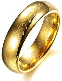 COPAUL 18 K chapado en oro el Señor de los anillos Pure carburo de tungsteno con