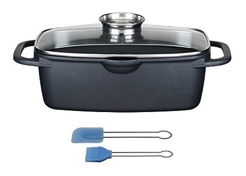 GSW 410915 Gourmet Universalbräter mit Grillboden, 33x21x11,5 cm, 6 L
