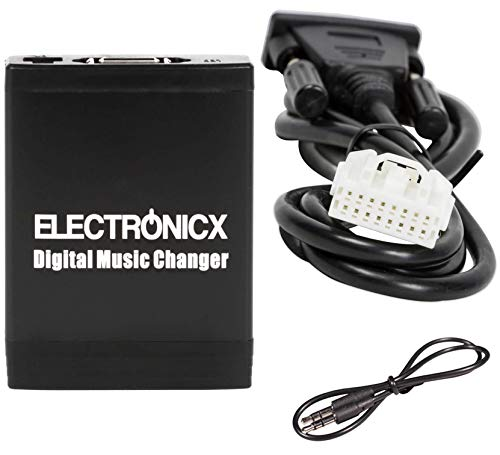 Electronicx Elec-M06-MAZ1 Adapter USB, SD, AUX, für Mazda Ford up to 2009, Autoradio Mp3 Player CD Wechsler Audio Stereo (Ford Cd-player)