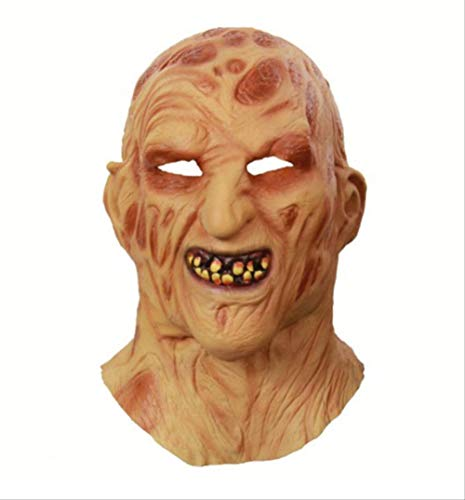 Krueger Kostüm Freddy Streich - tytuoling Halloween Maske Cosplay Freddy Krueger Maske Party Maske Adult Scary Horror Kostüm Kostüm Scary Maske Halloween Weihnachten