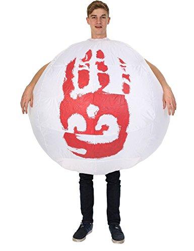 Erwachsene Aufblasbare Wilson Football Volleyball Castaway Film 00er Kostüm