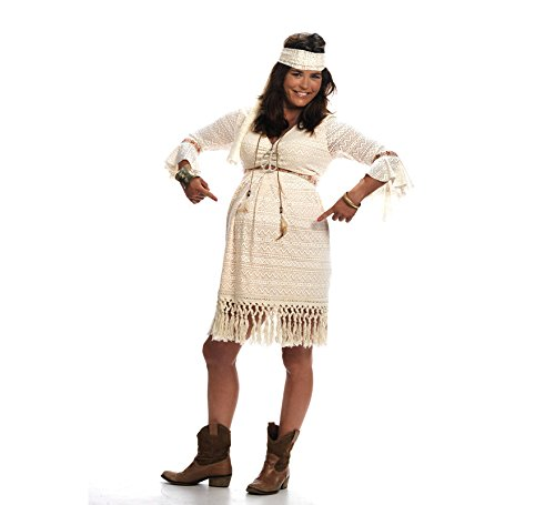 Limit Sport-Kostüm Hippie für werdende Mütter - Eine Schwangere Frau Kostüm
