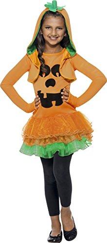 Smiffys Kinder Kürbis Kostüm für Mädchen,Tutu-Kleid und Jacke mit Kapuze, Größe: L, 43021