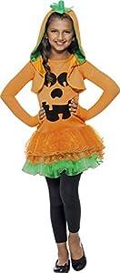 Smiffys-43021L Halloween Disfraz de Calabaza, Vestido con tutú y Cazador, Color Naranja, L-Edad 10-12 años (Smiffy