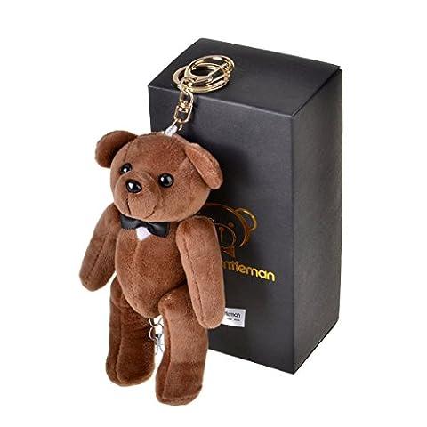 Bear Gentleman 130DB Safety Security Alarm Personal Self-Defense Rape Rob (Brown)