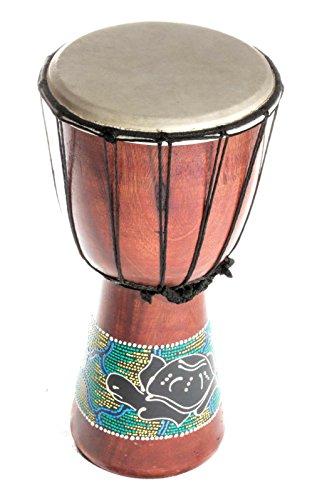 30cm Kinder Djembe Trommel Bongo Drum Holz Bunt Schildkröte