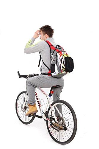 West Radfahren Rucksack Daypack für Radfahren Laufen Wandern Trekking Camping–Die meisten strapazierfähiges leicht, wasserdicht Sporttasche mit enormem Taschen für vielfachen Daypacks rot