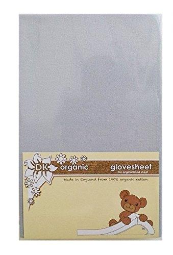 DK Glovesheet - Lenzuolo con Angoli Elasticizzati in Cotone 100% Organico per Lettini / Culle Bed-Side (Colore: Grigio)