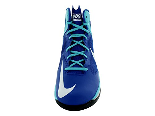 Nike Prime Hype Df, chaussures de sport - basketball homme Multicolore - Azul / Blanco (Game Royal / Wht-Pht Bl-Wlf Gry)