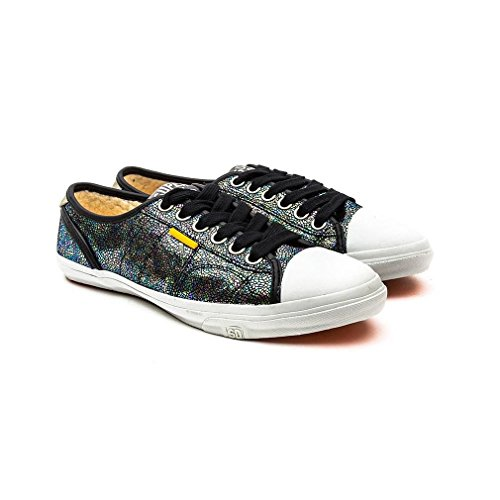 Superdry Low Pro Print Damen Sneaker Metallisch Metallisch