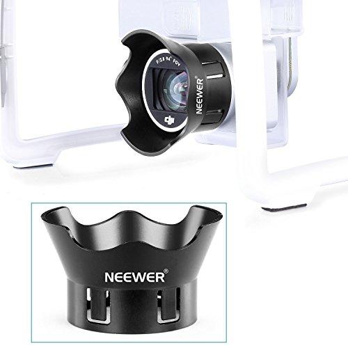 Neewer® für DJI Phantom 3 Standard, Professionelle und Erweitert Schutz- Kamera Objektiv Kappen-Schutz-Abdeckung + Blumen-Art Rosenblatt Gegenlichtblende Aus hochwertigem ABS-Kunststoff - Schwarz - 6