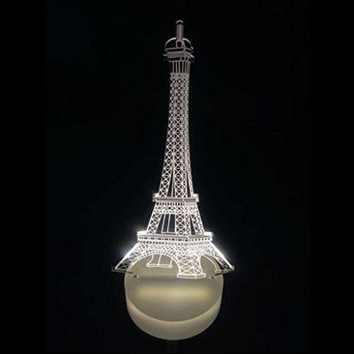 Imported LED 3D Illuminated Eiffel Tower Illusion Light Micro USB Lamp 7 Color Change