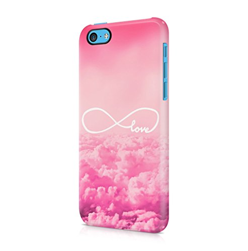 Infinity Love Pink Sky Clouds Apple iPhone 5C SnapOn Hard Plastic Phone Protective Fall Handyhülle Case Cover