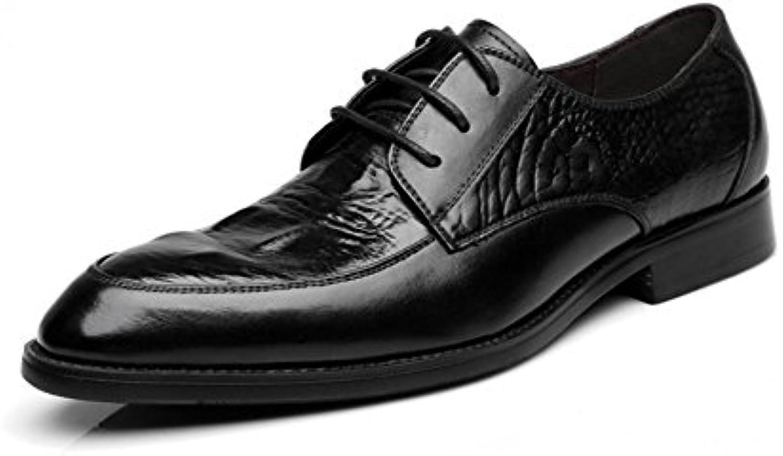 XYNXKZ Hombres Informal Moda Encaje Negocios Conducción Cómodo Transpirable Zapatos De Cuero -