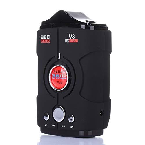 Radar-Laser- und GPS-Radar-Sprachalarm- und Auto-Geschwindigkeitsalarmsystem mit 360-Grad-Erkennung und mobilen Radar-Detektoren im Stadt- und Autobahnmodus (Gps-radar-detektor)