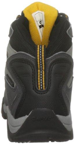 Hi-Tec Tokyo , Chaussures de randonnée garçon Gris - Grau (Dark Grey/Black/Gold)