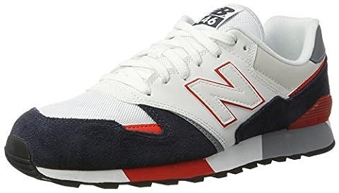 New Balance, Unisex-Erwachsene Sneaker, Weiß (White/navy), 43 EU (9