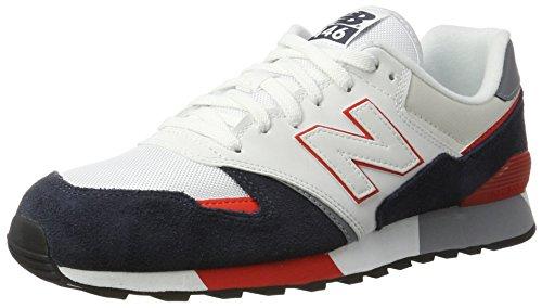 New Balance U446, Zapatillas para Hombre, Blanco (White/Navy), 45.5 EU