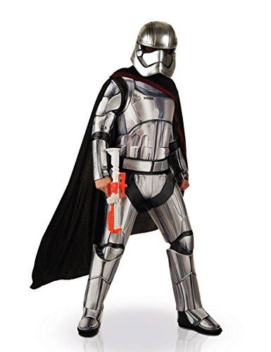 Wars Captain Phasma Damenkostüm Deluxe Lizenzware silber-schwarz M / L (Silber Stormtrooper Kostüm)
