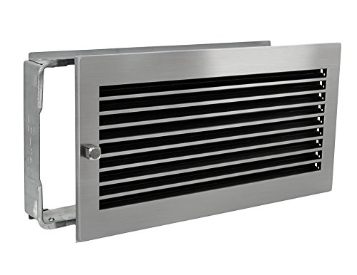 Warmluftgitter WG 4523 MESM mit Edelstahl matt Blende 450x230mm mit Einbaurahmen