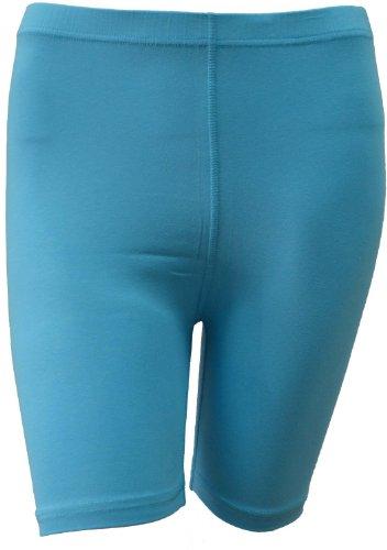 dames femmes cyclisme short lycra coton extensible au-dessus du genou sportive quotidienne court legging actif bleu ciel(sky blue)