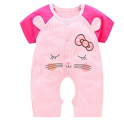 Aoweika Unisex Kleinkind Baby Toddler Schlafstrampler Baumwolle Pyjamas Cartoon Einfarbig Overalls Outfits Baby Neugeborenes Kinderkleidung mit 0-12 ()