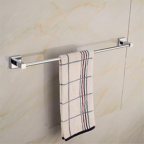 Pingofm en acier inoxydable Serviette Rack salle de bain Porte-serviette simple de salle de bain Porte-serviettes,