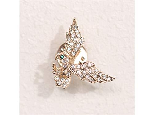 Mindruer Zarte Adler Brosche Hochzeit Brautkleid dekorative Corsage für Frauen Geschenk (Gold) Geburtstagsgeschenke (Farbe : Golden, Größe : 2.7x2.2cm)