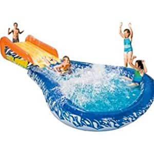 Chad valley cannonball splash inflatable water slide for Garden pool argos