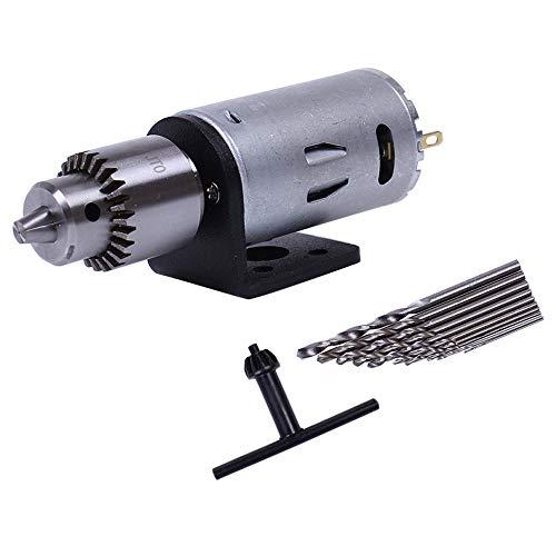 Elektro Motor Holz Pcb Hand Bohr Maschine Bohren Set Mit 10 Stück 0,5-3 Mm Twist Bits Und Jt0 Chucks Halterung Stehen ()