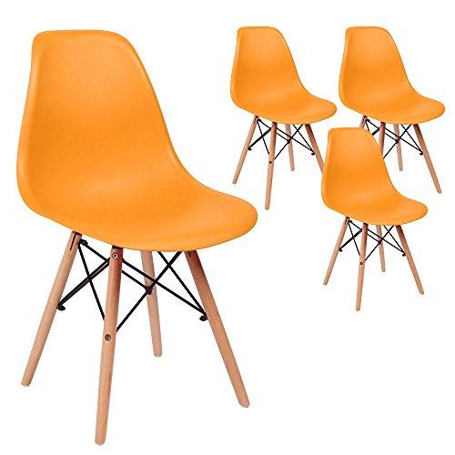 SVITA 4er Set Küchenstuhl Esszimmerstuhl Retro Design Schalensitz Farbwahl