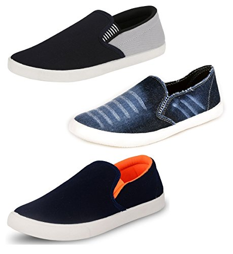 Chevit Men's Combo Pack of 3 Casual Sneakers Shoes