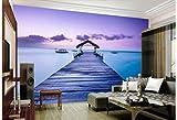 BHXINGMU Kundenspezifische Wandbilder Malediven-Meerblick Große Fototapete Wohnzimmerdekoration 50Cm(H)×90Cm(W)