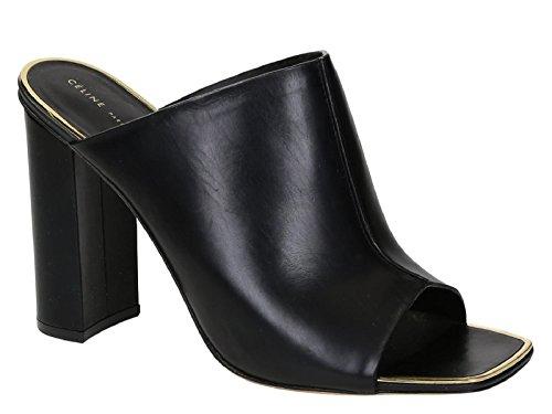 Sandales à talon Céline en cuir noir - Code modèle: 316463HSTC 38NO Noir