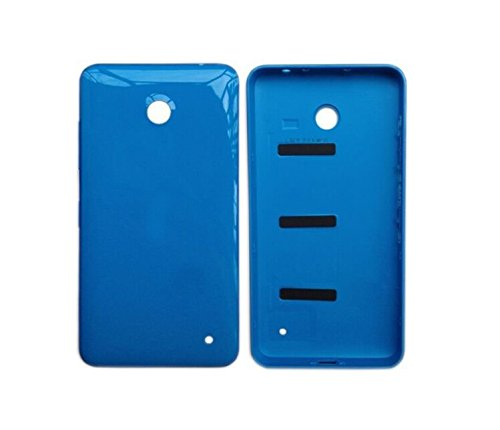 Feicuan Replacement Glossy Battery Back Door Cover Case and Protector für Nokia Lumia 630 635 636 638 - Blue Batterie Back Door Cover Case