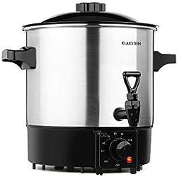 Klarstein Biggie Eco - Stérilisateur automatique et distributeur de boisson, 1000W, 30-100 °C, volume de 9L, robinet, voyants de contôle, grille de stérilisation fournie