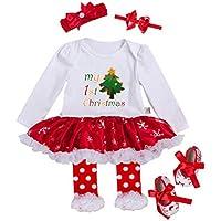 URBEAR Bebés Niñas Tutu Vestidos de Mi Primera Navidad ...