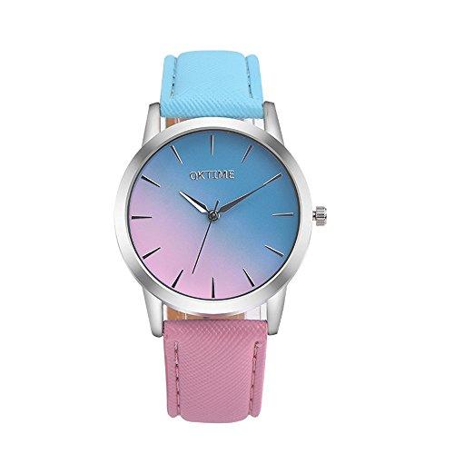 12 Schublade Zieht (Sunnywill Women's Men's Wrist Watch Steel Armband Quartz Casual Uhren (B))