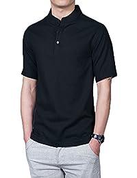 Mirecoo - Camisa casual - cuello mao - para hombre