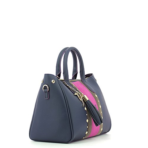 Trussardi Jeans Blondie Ecoleather Stud Tote Medium Bag Borsa a mano 30 cm BLUE
