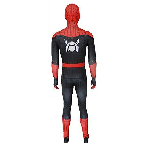 RNGNBKLS Schwarzes Spiderman Kostüm Erwachsenes Kind Halloween Cosplay Karneval Kinder Film Anzug Spandex/Lycra Klassische Party Verkleidung,Child-XS