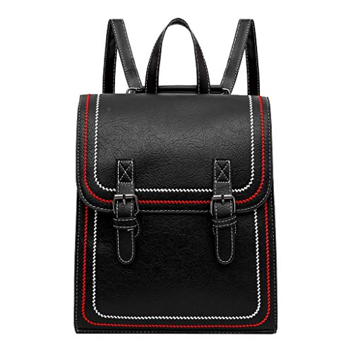 Unisex-Erwachsene Daypacks, ODRD Frauen Damen Mädchen Mode Nähen Retro Handtasche Totes Schulter Rucksäcke Taschen Rucksäcke Backbag Student Back to School Bag Backpack Tagesrucksack
