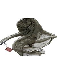 Prettystern - XL Size Solid Mousseline de soie Foulard en soie Etole 100% soie (de design italien) - 8 couleurs