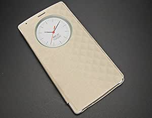 For LG G4 Quick Smart Circle Case Flip Leather Housing Cover with Sleep / Wake Up Function - GOLD